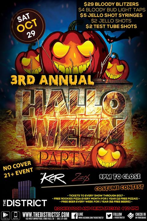 The District - Halloween Costume PARTY | Sioux Falls Arts