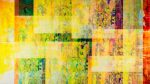 """Memory in Yellow. Archival Pigment, Resin, Wood Panel. 40 x 71""""."""